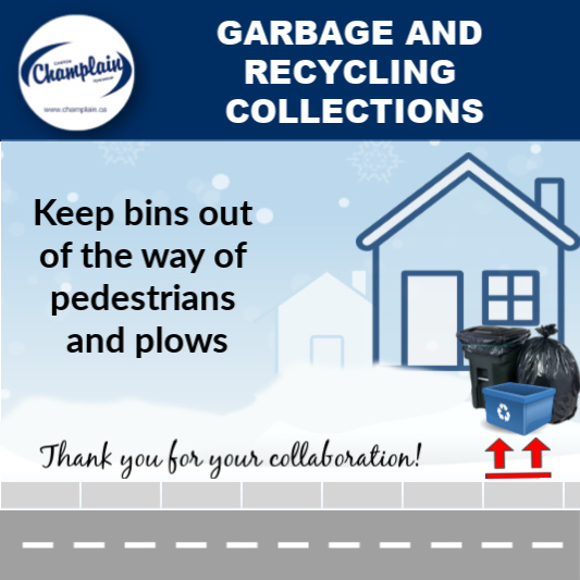 Keep bins out of the waw of pedestrians and plows
