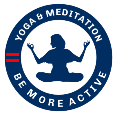 Yoga Meditation Be More Active Logo