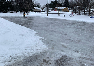 Picture of an outdoor ice rink